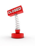 Closed on a spring Royalty Free Stock Image