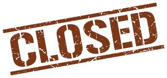 Closed stamp. Closed grunge stamp on white background Royalty Free Stock Image