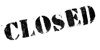 Closed stamp rubber grunge Stock Images