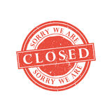 We are closed stamp. Vector illustration Stock Photography