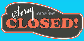 Closed_store_sign Royalty Free Stock Images