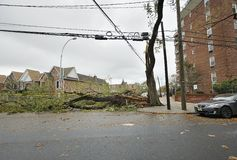 A closed street after Hurricane Sandy Royalty Free Stock Photography