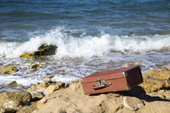 Closed suitcase Stock Images