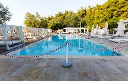 Closed swiming pool Stock Photos