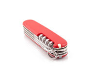 Closed Swiss army knife Stock Images