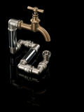 The closed system of a water pipe Royalty Free Stock Photography
