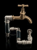The closed system of a water pipe Stock Images