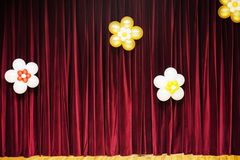 Closed theater red drapes Royalty Free Stock Photography