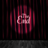 Closed Theatre Stage Curtains At Performance End Royalty Free Stock Images
