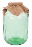 Closed three-liter glass jar Stock Photo