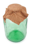 Closed three-liter glass jar Royalty Free Stock Photography