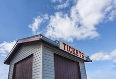 Closed ticket booth Stock Photos
