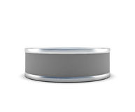 Closed tin can front view Stock Image