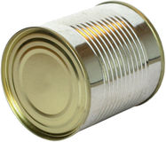 Closed tin can without label Royalty Free Stock Images