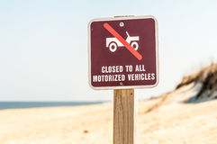 Closed to all motorized vehicles Royalty Free Stock Photo