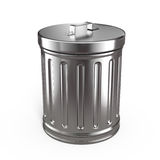 Closed trash can Stock Images