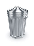 Closed trash can Royalty Free Stock Photo