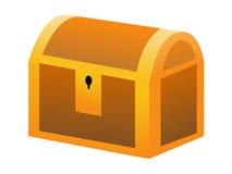 Closed treasure box Royalty Free Stock Photography