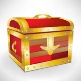 Closed treasure chest Stock Images