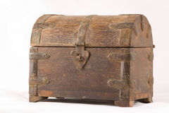 Closed Treasure Chest. With closed clasp Stock Images
