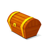 Closed treasure chest, pirate treasure icon wealth Stock Images