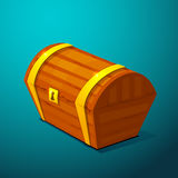 Closed treasure chest, pirate treasure icon wealth Stock Image
