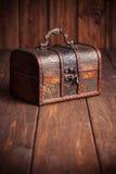 Closed treasure chest Stock Photo