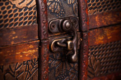 Closed treasure chest Stock Images