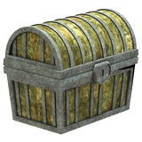Closed treasure chest Royalty Free Stock Image