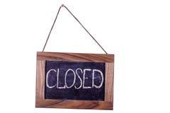 closed Um sinal na porta fotografia de stock royalty free