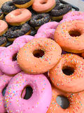Closed up Assorted donuts in food shop Stock Image