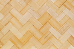 Closed Up of Bamboo Texture of Basket Weave Pattern Royalty Free Stock Images