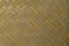 Closed Up of Bamboo Texture of Basket Weave Pattern Stock Photos