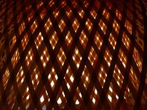 Closed Up of Bamboo Texture of Weave with Light Royalty Free Stock Image