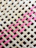 Closed up Bamboo wickerwork in Thai pattern Royalty Free Stock Photography