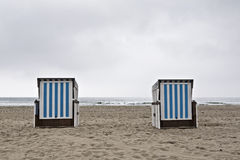 Closed up beach chairs Stock Images