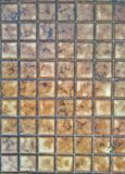 Closed up the block of footpath bricks,pattern and tile Stock Photography