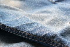 Closed up blue jeans,denim texture,selective focus Royalty Free Stock Photos