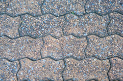Closed up brick texture on road floor Stock Image