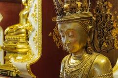Closed up bronze buddha image Stock Images
