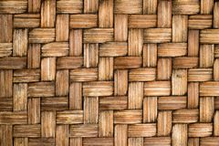 Closed up of brown color wooden weave texture background. Closed up of brown color wooden weave textured background Stock Photo