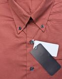Closed up of the brown shirt Stock Images