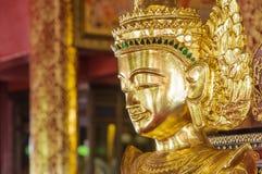 Closed up buddha image burmese style. Royalty Free Stock Photography