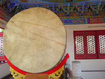 Closed up chinese drum in temple Stock Images