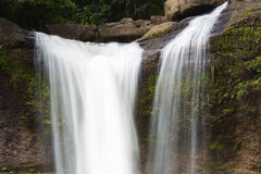 Closed up deep forest waterfalls Stock Photo
