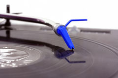 Closed-up dj turntable Royalty Free Stock Photography