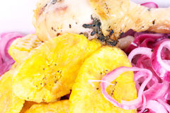 Closed-up dominican food Royalty Free Stock Photography