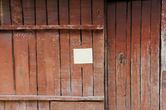 Closed up the door, made from wooden Royalty Free Stock Photo