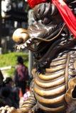 Closed up dragon statue at Wong Tai Sin temple  Hong Kong Stock Photography