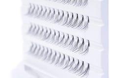 Closed-up false fascicles eyelashes Royalty Free Stock Image